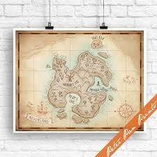 Neverland Map Peter Pan Inspired Art Print Unframed Etsy