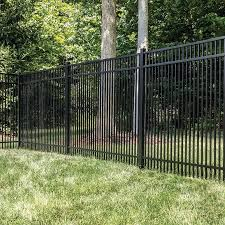 Freedom Standard Sheffield 5 Ft H X 6 Ft W Black Aluminum Flat Top Decorative 73008842 In 2020 Metal Fence Metal Fence Panels Aluminum Pool Fence