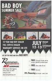 Bad Boy Mower Summer Sale Rockingham Cooperative