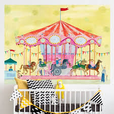 Oopsy Daisy Carousel By Maria Carluccio Wall Decal Wayfair