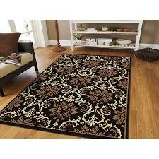 8x11 modern rug black beige