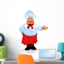 Fat Chef Cook Wall Decal Sticker By Wallmonkeys Vinyl Peel And Stick Graphic For Girls 24 In H X 17 In W Walmart Com Walmart Com