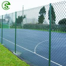 China Plastic Coated Green Woven Chain Link Fence For Farm Plantation Area Greenhouse China Diamond Chain Link Mesh Pvc Coated Farm Fence