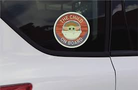 New The Mandalorian The Child On Board Decal Sticker Available