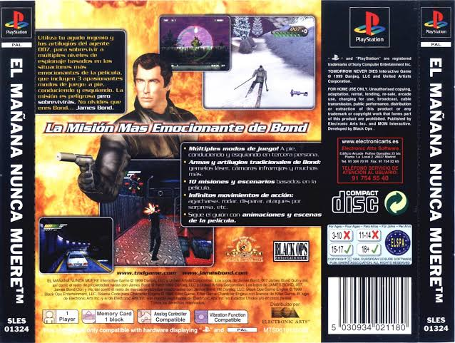 Tomorrow Never Dies-cover game/007 tomorrow never dies ps1 iso download