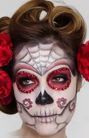sugar skull halloween makeup ideas for