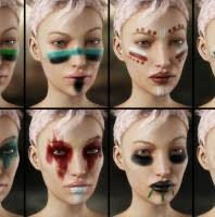 warrior make up for genesis 3 female s