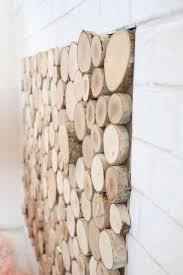 diy faux wood log fireplace screen a