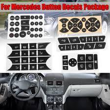 5pcs Set Car Button Repair Steering Ac Door Lock Window Decals Stickers For Mercedes Benz W204 2007 2014 Button Repair Sticker Decal Wish