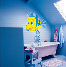 From 14 99 Buy The Little Mermaid Flounder Fish Kids Wall Sticker At Print Plus In Wall Decals Cartoons For Walls At Print Plus