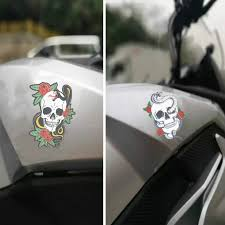 1pc 3m Punk Rose Skull Head Halloween Motorcycle Sticker Car Decal Moto Cover Scratch Car Styling Accessories For Harley Yamaha Car Stickers Aliexpress