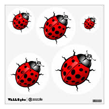Red Ladybug Wall Decal Zazzle Com