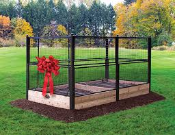 Amazon Com Burpee Delux Raised Bed Garden 5 Foot Fence Keeps Deer Out Irrigation Kit Included Easy To Assemble Garden Outdoor