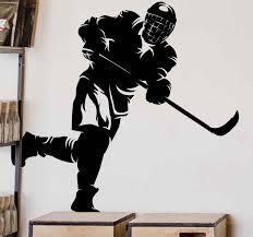 Shooting Ice Hockey Wall Sticker Tenstickers