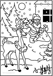 1001 Kleurplaten Kerst Kerstman Kleurplaat Kerstman En Rudolf