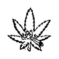 Pot Head Leaf Marijuana Weed Vinyl Decal Sticker