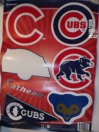 Chicago Cubs Baseball Fathead Wall Decal Stickers Old Logo Pennant Ebay