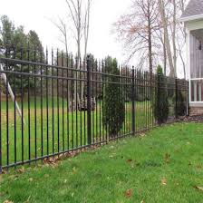 Black Coated Wrought Iron Residential Fence Tubular Steel Garden Fencing China Fence Fencing Made In China Com