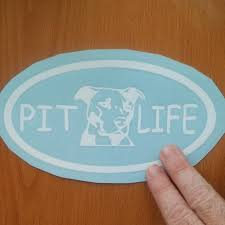 Pit Bull Life Custom Decal Sticker Design For Your Depop