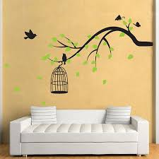 Branch With Birds Butterfly Vinyl Wall Art Decal Independence