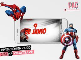 Super Heroes Marvel Invitacion En Video Whatsapp Pac 400 00 En