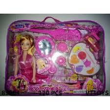 kids barbie doll makeup toy set