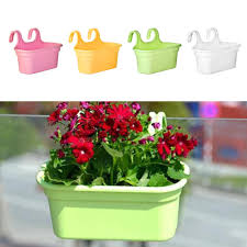Garden Flower Pot Wall Hanging Plant Bucket Fence Balcony Railing Planter Shopee Philippines