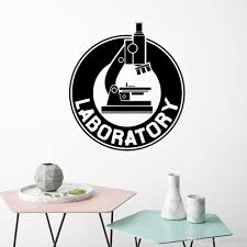 Microscope Wall Stickers Bedroom Laboratory Art Decal Chemistry Science Biology Vinyl Wall Decals Lab Waterproof Decor Decorative Stickers For Wall Decorative Stickers For Walls From Joystickers 16 28 Dhgate Com