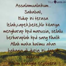 assalamualaikum sahaba quotes writings by nurna ningsih