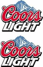 Coors Light Beer Car Bar Man Cave Vehicle Wall Art Sticker Decal Graphic Backyard Games Backyard Games Cornhole Bag Toss