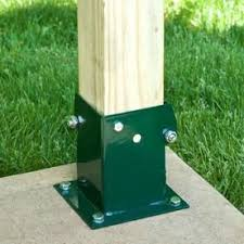 No Dig 4 In X 4 In Powder Coated Wood To Steel Base Lowes Com Wood Post Steel Powder Coating