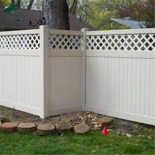 China Vinyl Privacy Garden Fence With Top Lattice China Pvc Fence And Privacy Fence Price
