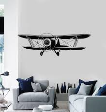 Vinyl Wall Decal Aircraft Aviation Boys Kids Boys Room Decor Stickers Wallstickers4you
