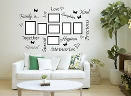 Family Is Quote Wall Art Sticker Words Decor Hall Lounge Room Photo Frames Ebay