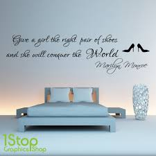 Marilyn Monroe Wall Sticker Right Pair Of Shoes Bedroom Wall Art Decal X64 Ebay
