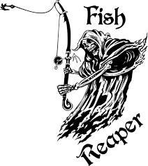 Etie Fish Grim Reaper Fishing Rod Hook Car Boat Truck Window Vinyl Decal Sticker Proudly Custom Decals Car Stickers Aliexpress