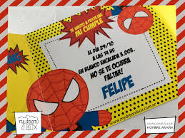 Tarjetas Invitacion Solapa Cumple Spiderman Heroe Arana 371 00