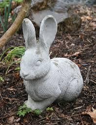 cement rabbit cement crafts concrete