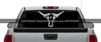 Texas Longhorn Cowboy Car Stickers Country Western Vinyl Window Decals Rodeo