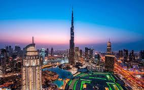 تحميل خلفيات برج خليفة دبي الإمارات العربية المتحدة مساء غروب