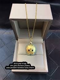 pig 24k gold surface plated
