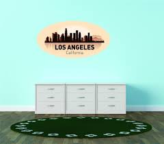 Do It Yourself Wall Decal Sticker Los Angeles California United States Major City Geographical Map Landmark 16x30 Walmart Com