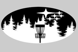 Disc Golf In Trees Emblem Overlay Decal Set Orsini Vinyl Designs