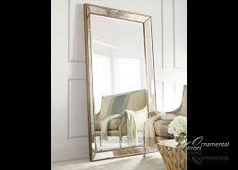 angled beaded gold mirror