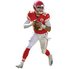 Patrick Mahomes Kansas City Chiefs Fathead Life Size Removable Wall Decal Walmart Com Walmart Com