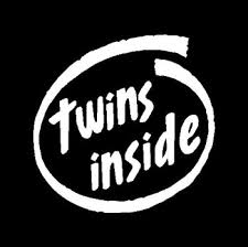 Twins Inside Car Decal Customized 5 Inch Or 10 Inch