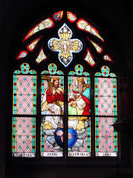 holy trinity stained glass windows in