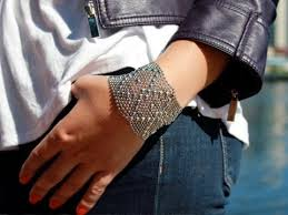 liquid metal mesh cuff bracelet you