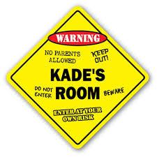 Kade S Room Decal Crossing Xing Kids Bedroom Door Children S Name Boy Girl Walmart Com Walmart Com