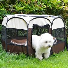 Large Outdoor Dog Cage Foldable Octagonal Fence Pet Playpen House For Small Large Dogs Indoor Portable Xl Dog Camp Tent Perro Houses Kennels Pens Aliexpress